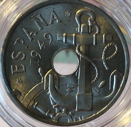 50 céntimos 1949 (*19-51). Estado Español 50ctsa11