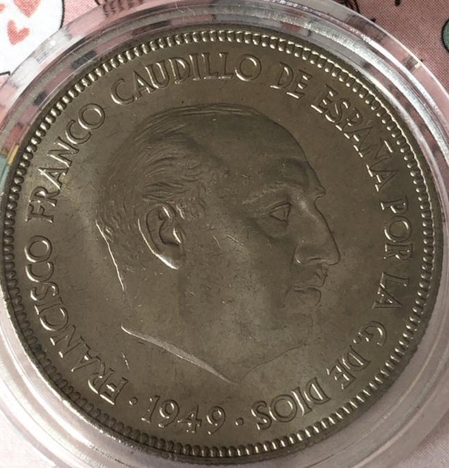 5 pesetas 1949 (*19-50). Estado Español (4ª) 5_pts410
