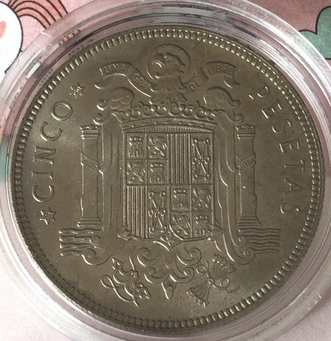 5 pesetas 1949 (*19-50). Estado Español (4ª) 5pts4910