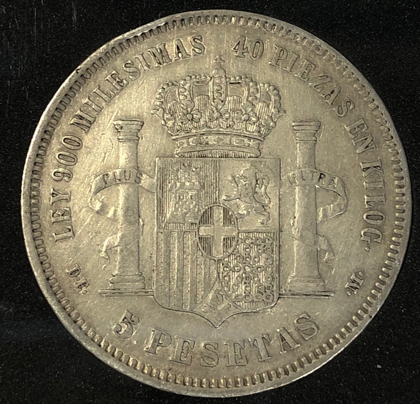 5 pesetas 1871 (*18-73). Amadeo I Revers10