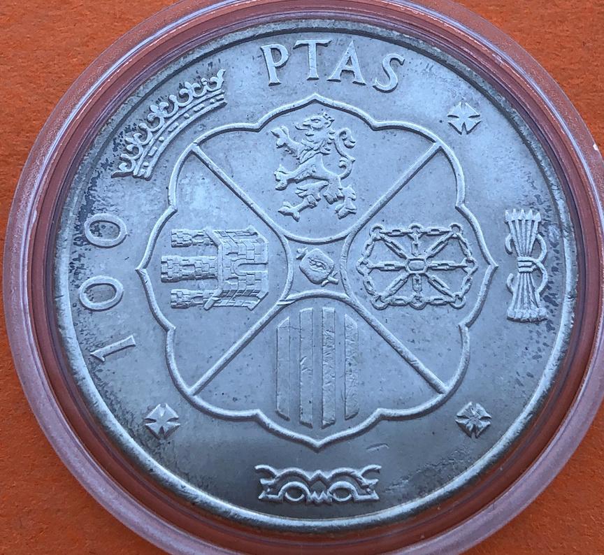 100 pesetas 1966 (*19- 69). Estado Español. Palo recto. Opinión - Página 2 Revers14