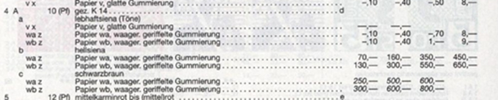 Berlin Brandenburg Mi#4a/b A1010