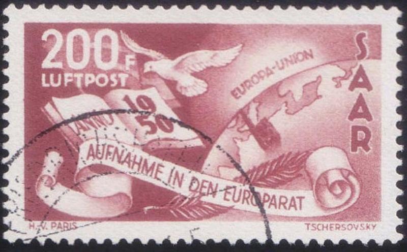 Saarland 1950,Mi#298 forged? As111