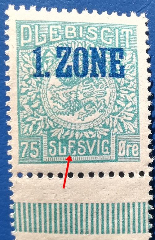 Schleswig Mi#24II Plattenfehler As310