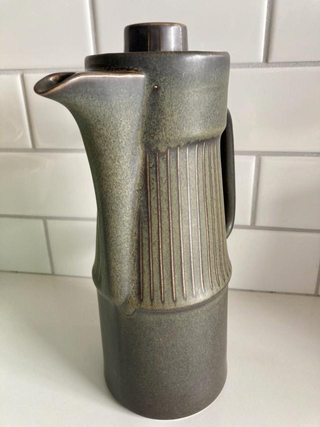 Mid-Century Stoneware Coffee Pot Img_1314