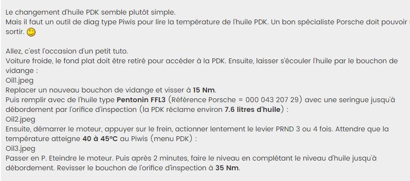 vidange boite pdk Porsche - Page 2 Captur93
