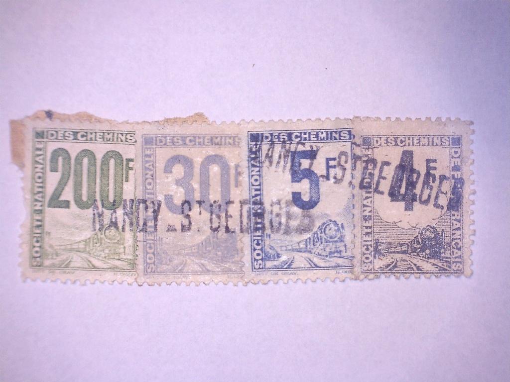 À identifier 4 timbres chemin de fer Français 200 30 5 4 F 20830211