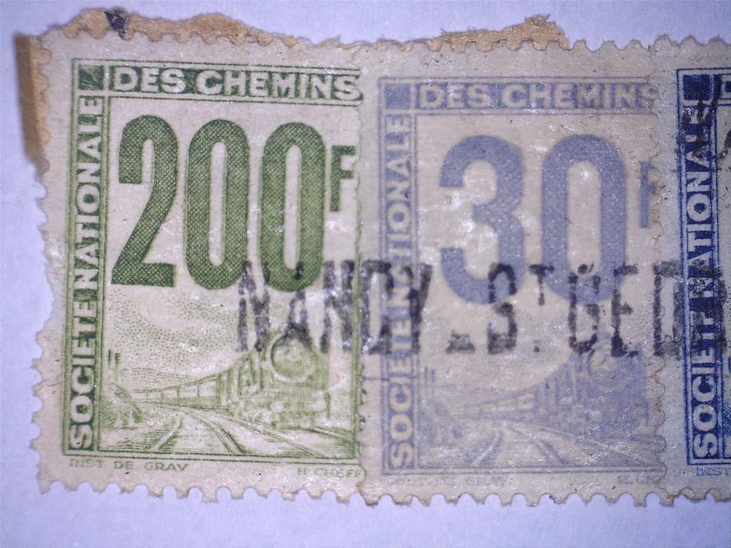 À identifier 4 timbres chemin de fer Français 200 30 5 4 F 20830212