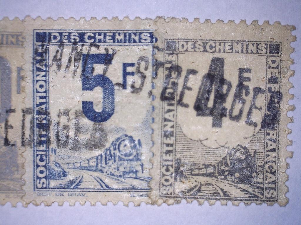 À identifier 4 timbres chemin de fer Français 200 30 5 4 F 20830213