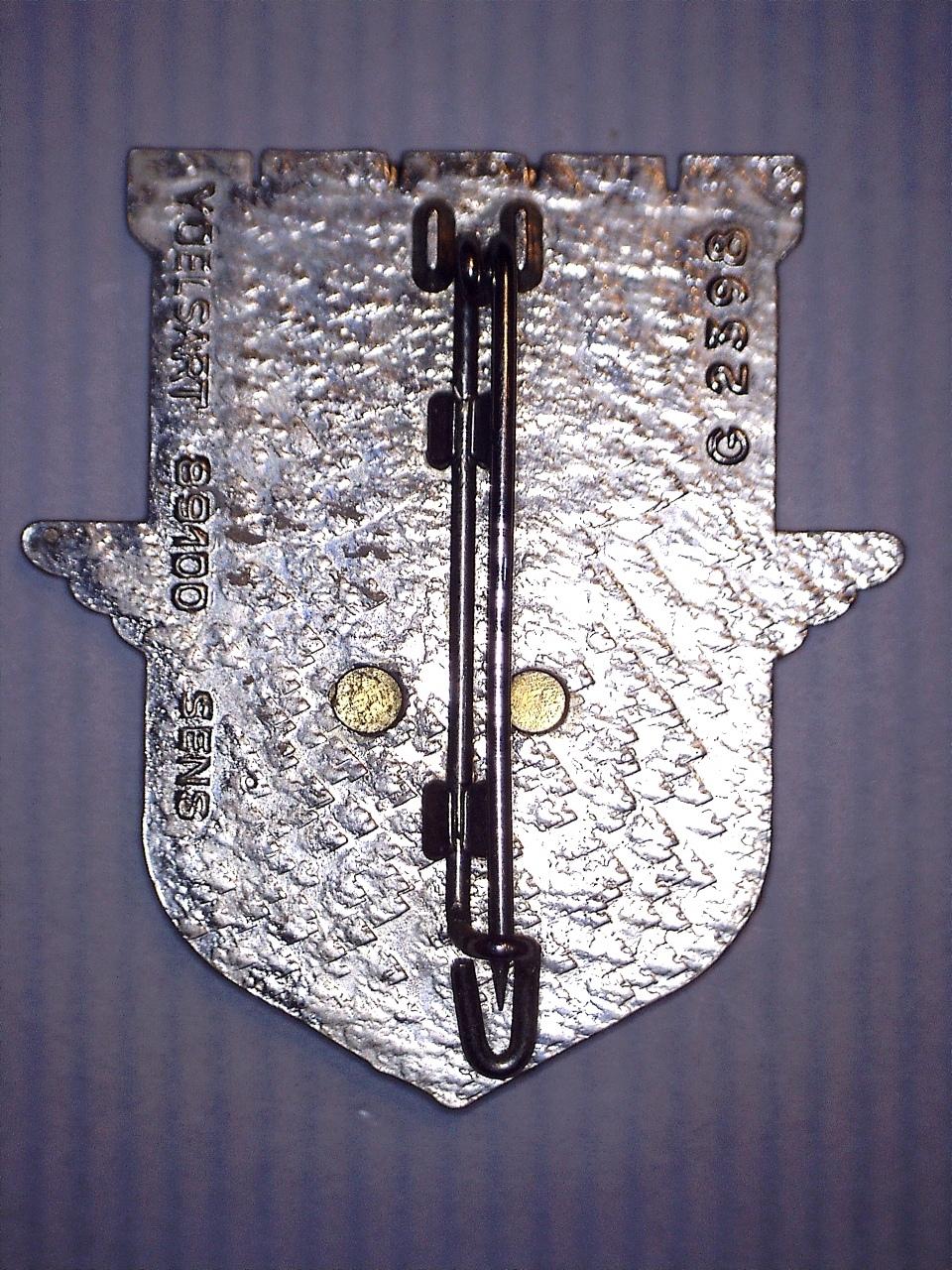 A identifier INSIGNE avec parachute aile armure ancre 20922115