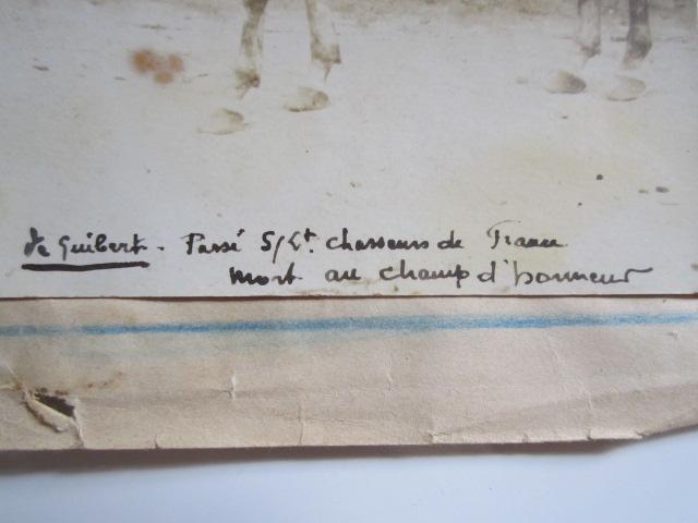 A identifier chasseurs de France, St Venant, dans la tranchée premières lignes Img_1213