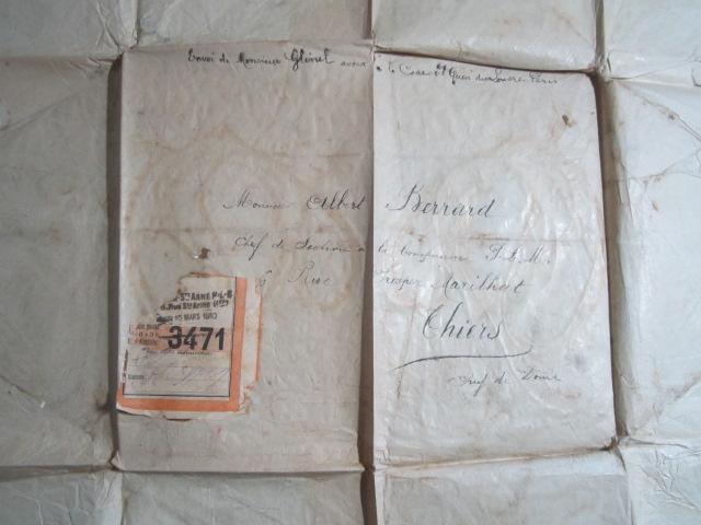 étiquette P.L.M. 1910 colis postal   Img_1288