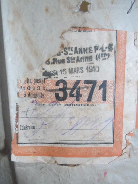 À identifier étiquette P.L.M. 1910 colis postal   Img_1289