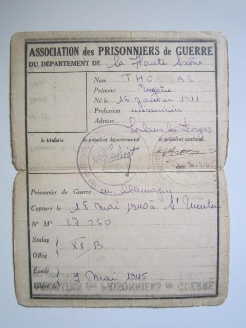 À identifier timbre association prisonniers de guerre département Haute-Saône Img_3335