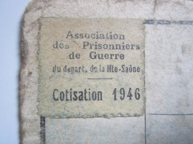 À identifier timbre association prisonniers de guerre département Haute-Saône Img_3337