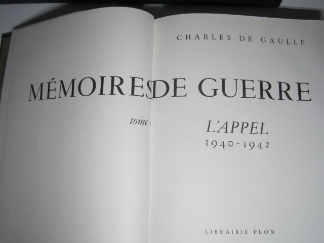 Estimation CHARLES DE GAULLE Mémoires de GUERRE hors commerce Img_3618