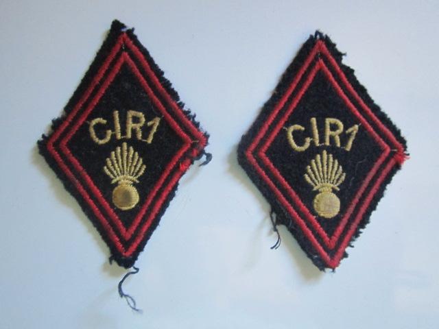 A identifier insignes tissu marqué C.I.R.1 Img_5730