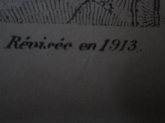 À identifier CARTE ETAT MAJOR ? révisée en 1913 - 84 Mirecourt Img_9211