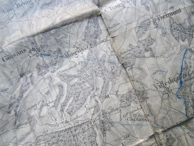 À identifier BATAILLE sur carte état major 114 D.I et 112 D.I et 4 P.R Img_9217