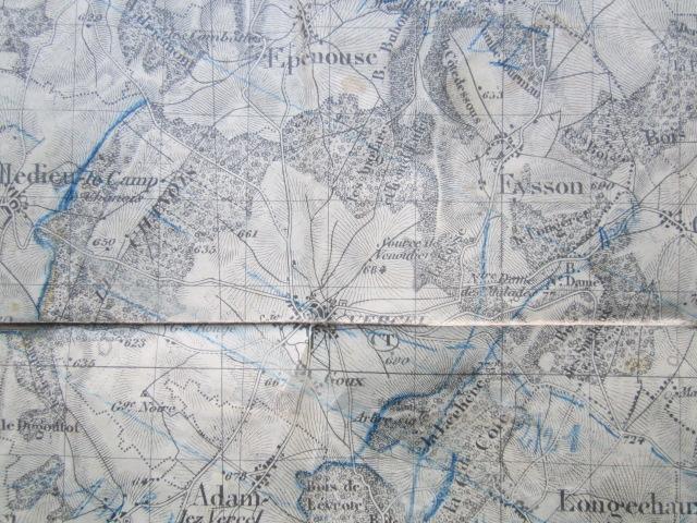 À identifier BATAILLE sur carte état major 114 D.I et 112 D.I et 4 P.R Img_9218