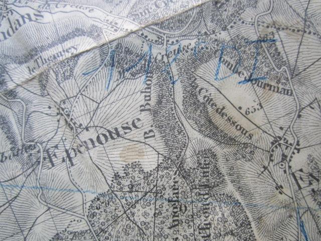 À identifier BATAILLE sur carte état major 114 D.I et 112 D.I et 4 P.R Img_9219