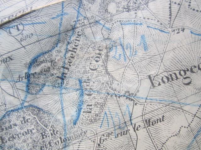 À identifier BATAILLE sur carte état major 114 D.I et 112 D.I et 4 P.R Img_9221
