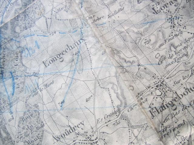 À identifier BATAILLE sur carte état major 114 D.I et 112 D.I et 4 P.R Img_9222