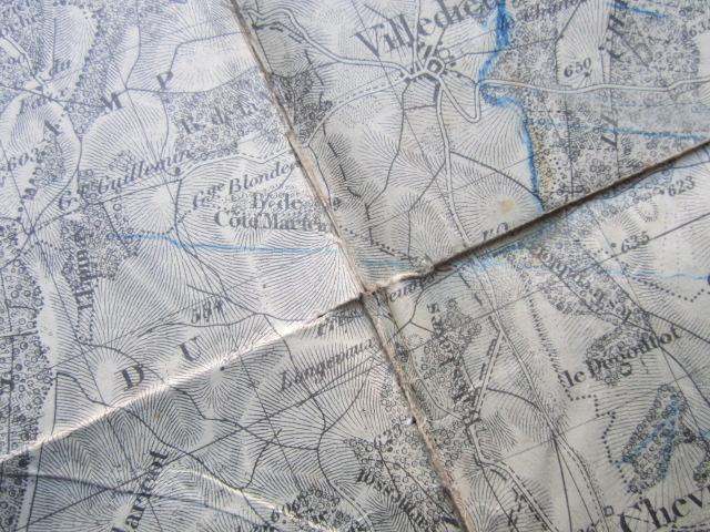 À identifier BATAILLE sur carte état major 114 D.I et 112 D.I et 4 P.R Img_9224