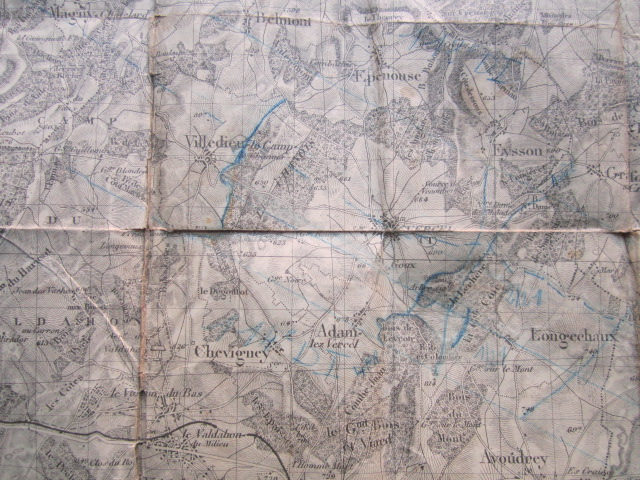 À identifier BATAILLE sur carte état major 114 D.I et 112 D.I et 4 P.R Img_9225