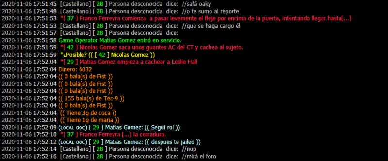 [Reporte] Admin Abuse y MG de Matias Gomez - DM Y NRE de Franco Ferreyra Leslie17