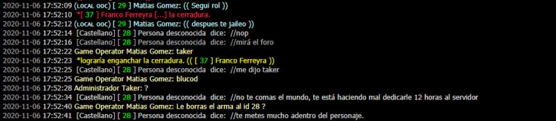 [Reporte] Admin Abuse y MG de Matias Gomez - DM Y NRE de Franco Ferreyra Leslie18