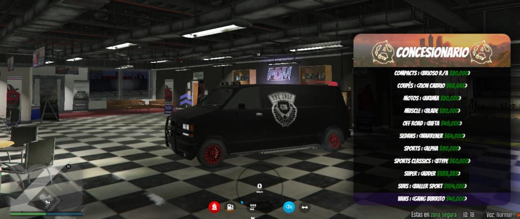 Gama de vehículos del concesionario Gang_b10