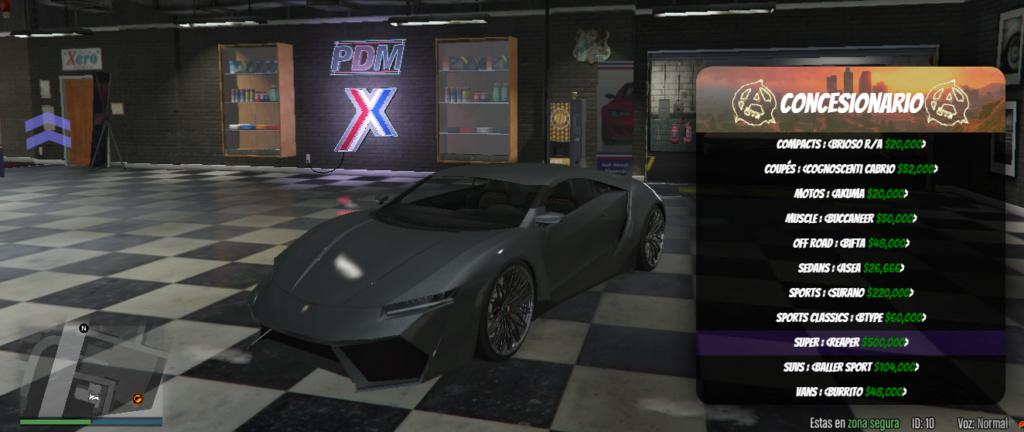 Gama de vehículos del concesionario Reaper10