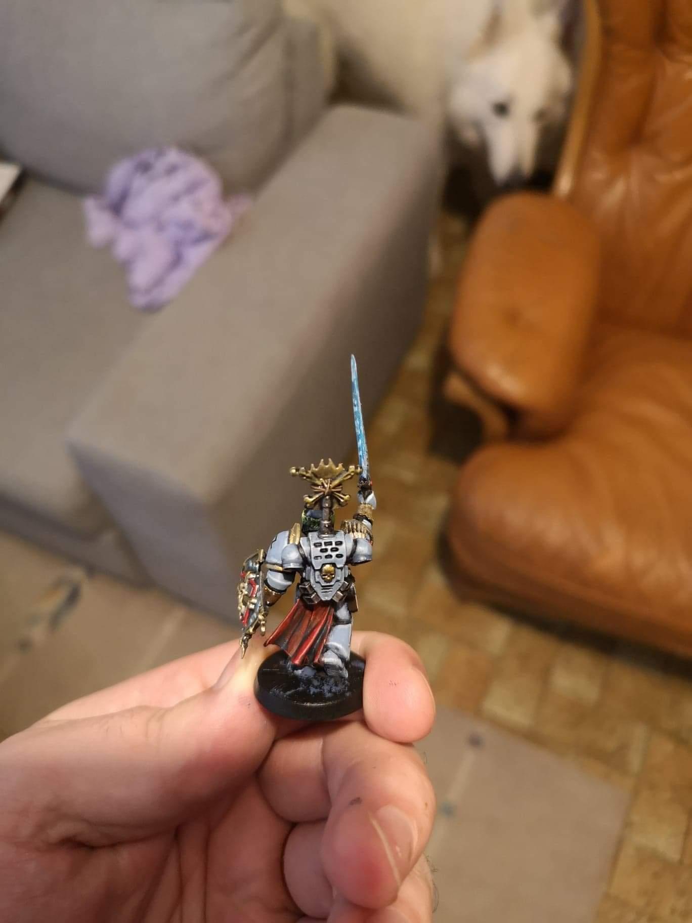 [Peinture] [Warhammer 40,000] Champion de l'empereur Space wolves  Receiv16