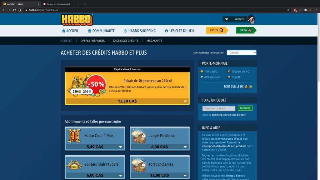 Comment acheter des credits Habbo - cher de manières autorisée ?  Captur11