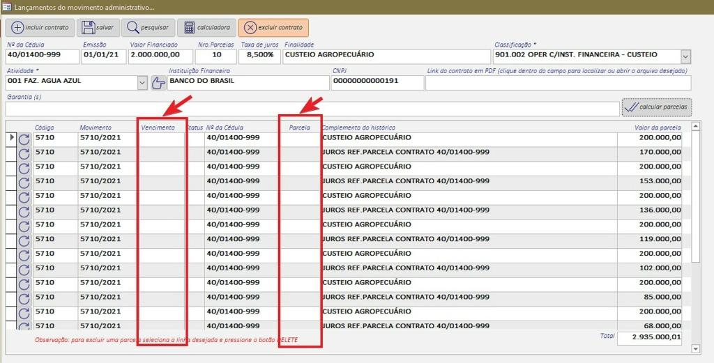 [Resolvido]Cálculo de financiamento com juros capitalizados e valor do juro separado do principal Telafi10