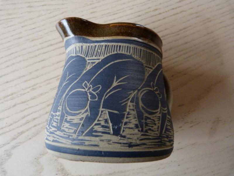 Austin Hleza, Swaziland Artist Potter. Cream Jug.  P1120723