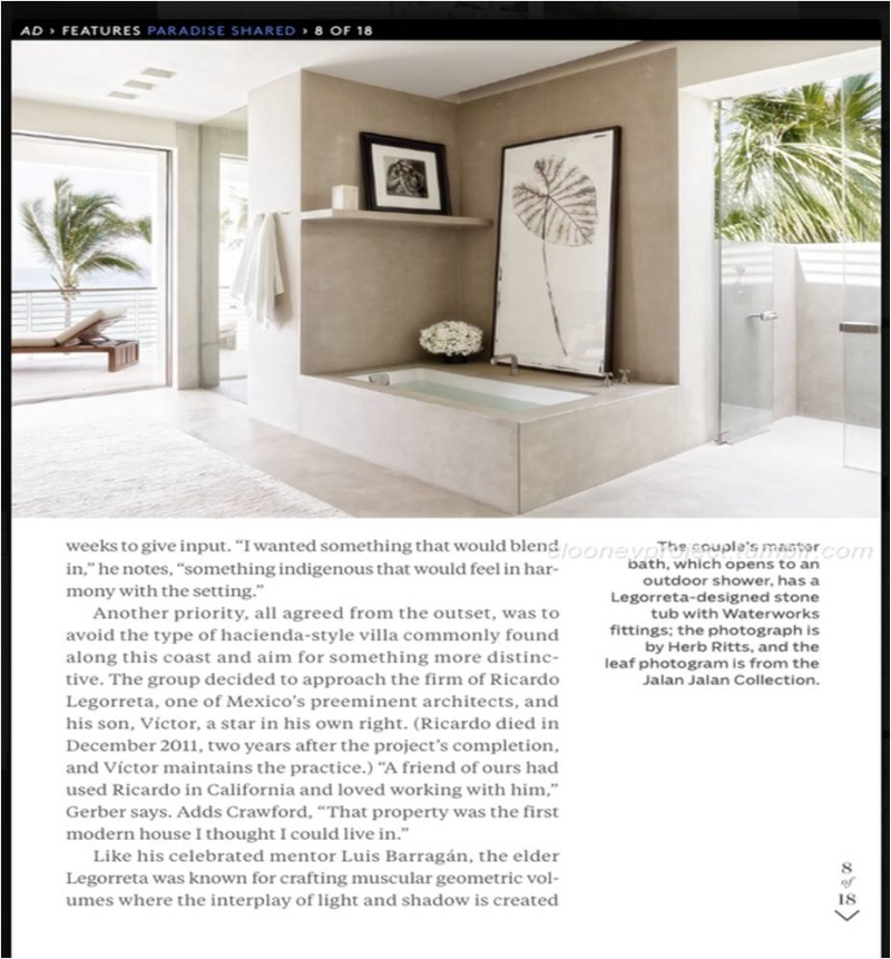 George Clooney's Cabo home featured in Architectural Digest - Page 2 Ad_1010