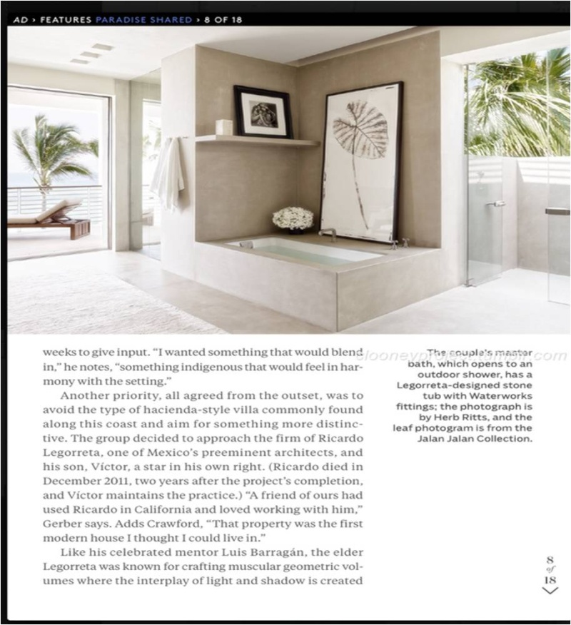 George Clooney's Cabo home featured in Architectural Digest - Page 2 Ad_1810