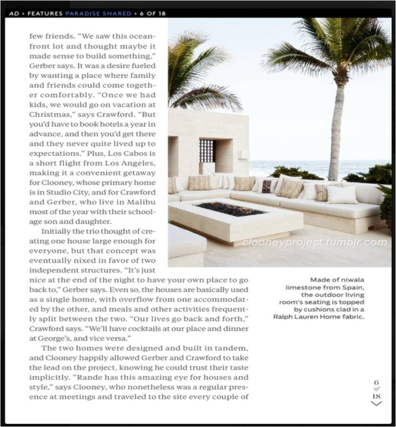 George Clooney's Cabo home featured in Architectural Digest - Page 2 Ad_710