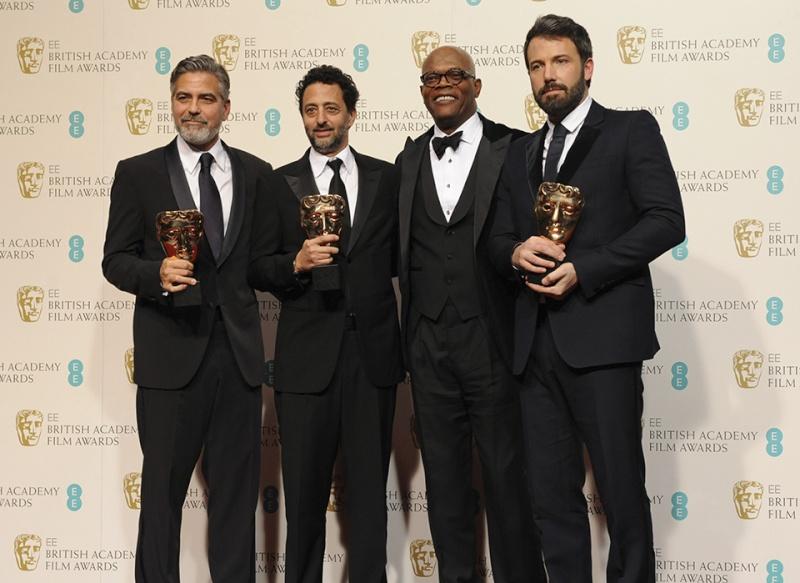 George Clooney's beard is better than everyone else's Bafta_24