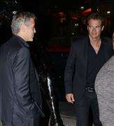 George Clooney w/ Rande Gerber at Cipriani NYC Sept 30, 2013 Cipria14