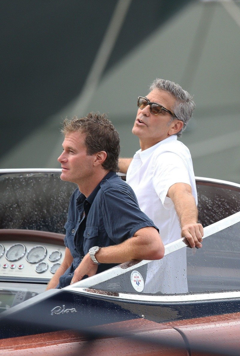 George Clooney on a yacht in St Tropez with Bono and Rande Gerber Cloone15
