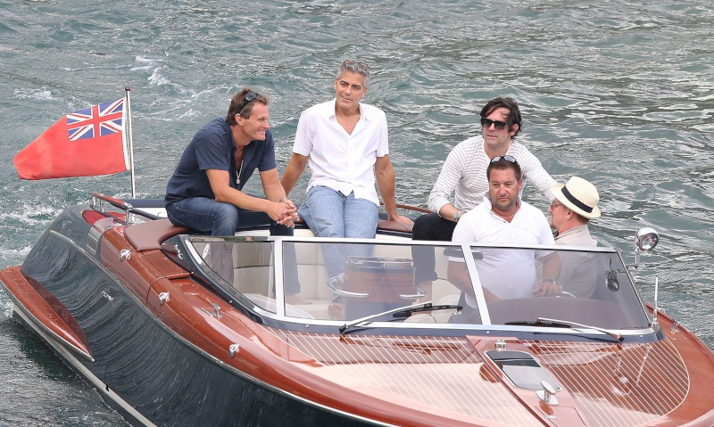 George Clooney on a yacht in St Tropez with Bono and Rande Gerber Cloone16