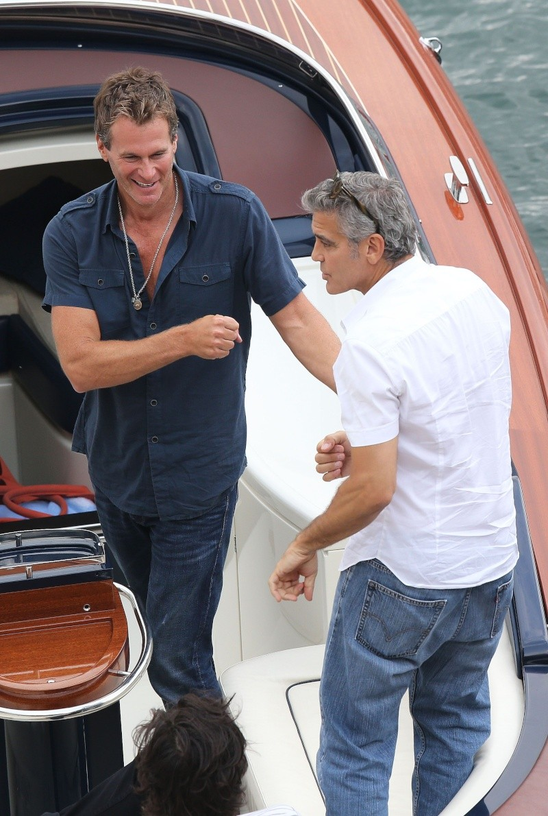George Clooney on a yacht in St Tropez with Bono and Rande Gerber Cloone18