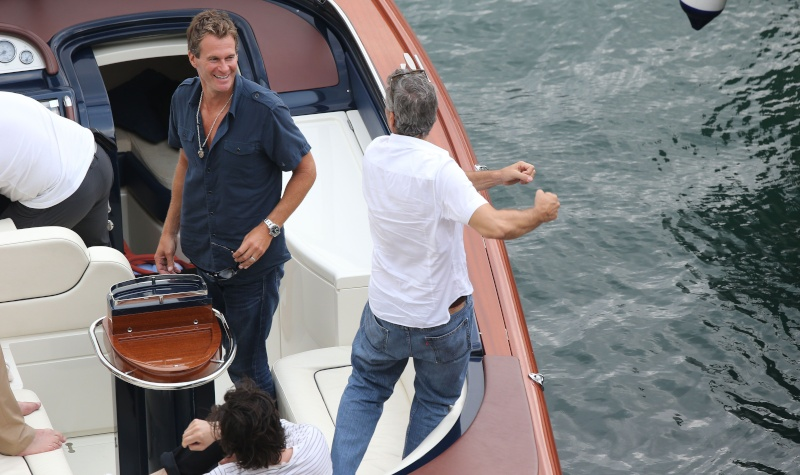 George Clooney on a yacht in St Tropez with Bono and Rande Gerber Cloone20