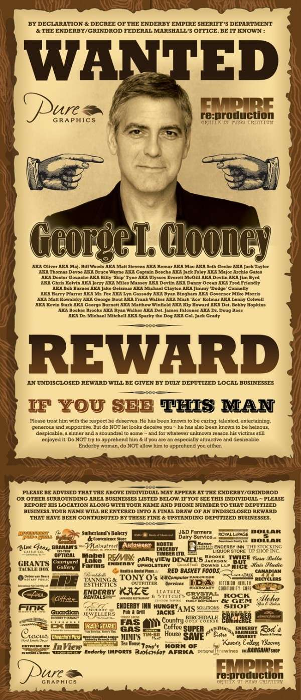 George Clooney Wanted in Canada: Cardboard or Alive Cloone33