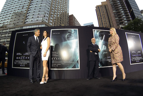 George Clooney at the Gravity, New York Premiere ~ Oct 01, 2013 Gravit20