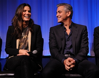 Q&A at Gravity Screening with George Clooney and Sandra Bullock  Gravit44