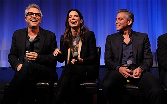 Q&A at Gravity Screening with George Clooney and Sandra Bullock  Gravit45